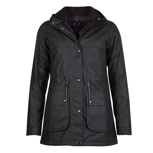 Olive Barbour Womens Cassley Wax Jacket