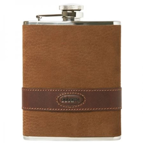 Walnut Dubarry Rugby Leather Hip Flask