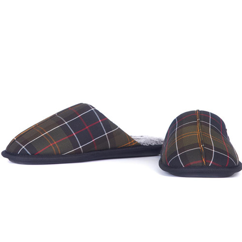Classic Tartan Barbour Mens Young Slippers