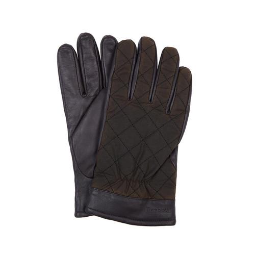 Olive/Brown Barbour Mens Dalegarth Gloves