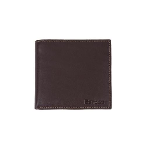 Brown/Tan Barbour Elvington Leather Billfold Coin Wallet