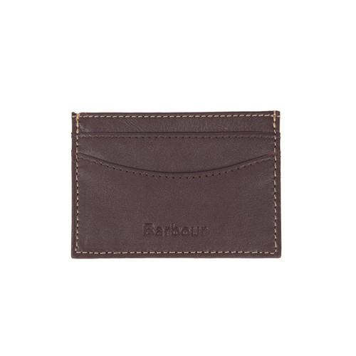 Brown/Tan Barbour Elvington Leather Card Holder