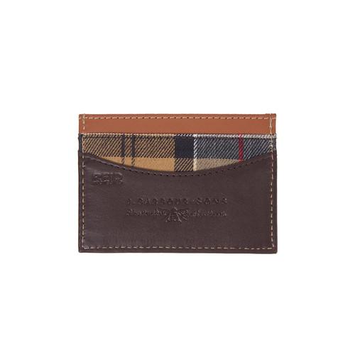 Brown/Tan Barbour Elvington Leather Card Holder Back