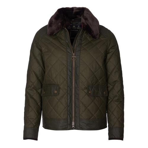Olive Barbour Womens Glencoe Wax Jacket