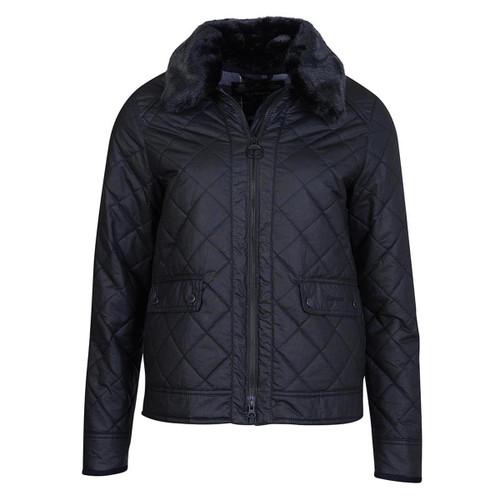 Black Barbour Womens Glencoe Wax Jacket
