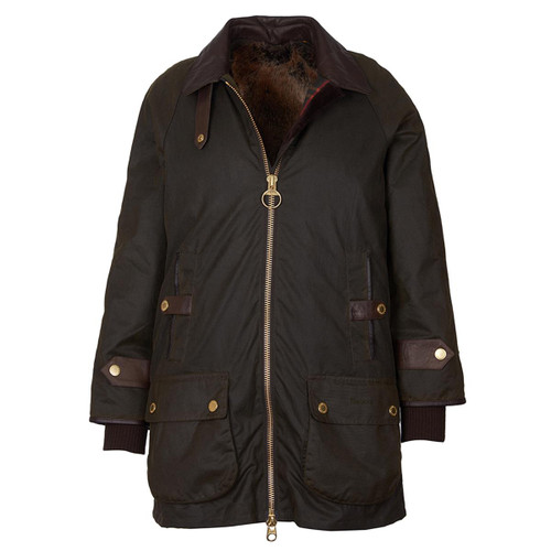 Olive/Classic Barbour Womens Norwood Wax Jacket