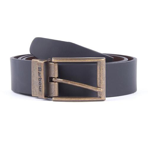 Black Barbour Reversible Leather Belt Gift Box