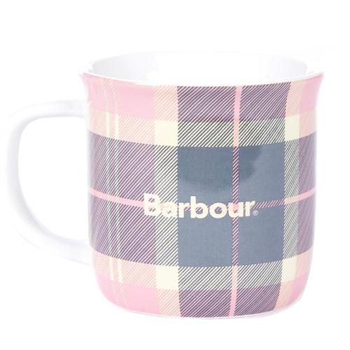 Pink/Grey Barbour Tartan Mug