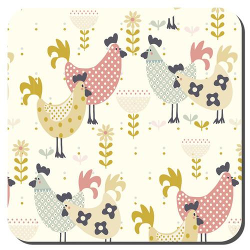 Denby Hens Set Of 6 Coasters