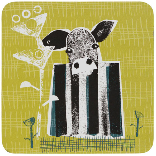 Denby Cow Set Of 6 Coasters