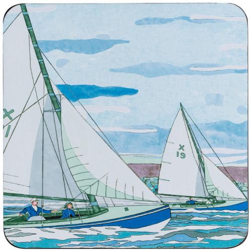 Denby Sailing Set Of 6 Coasters