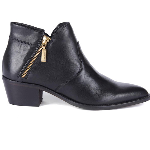 Black Barbour International Womens Alexis Boots Side