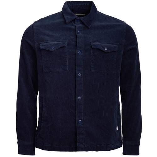 Navy Barbour Mens Cord Overshirt