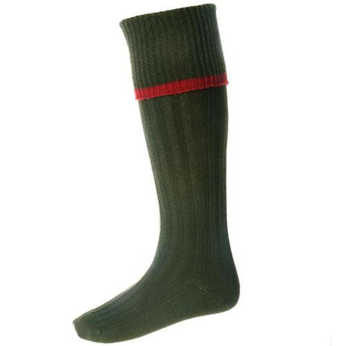 Spruce (Brick Trim) House Of Cheviot Mens Estate Socks