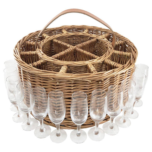 Light Steamed Willow Premium Party Basket