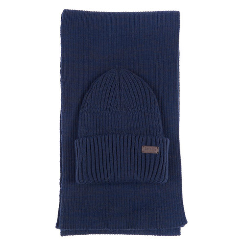 Barbour Mens Crimdon Beanie and Scarf Gift Set