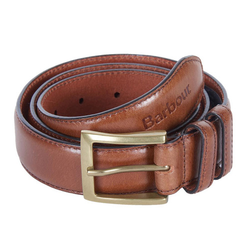 Dark Brown Barbour Mens Belt Gift Box