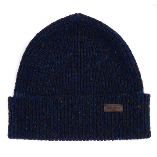 Navy Barbour Mens Lowerfell Beanie