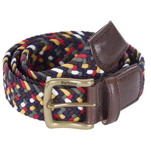 Barbour Mens Tartan Coloured Stretch Belt Gift Box