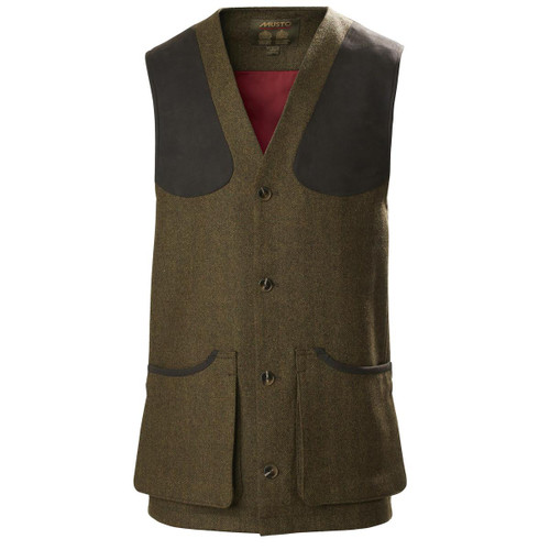 Dunmhor Musto Mens Stretch Technical Tweed Waistcoat