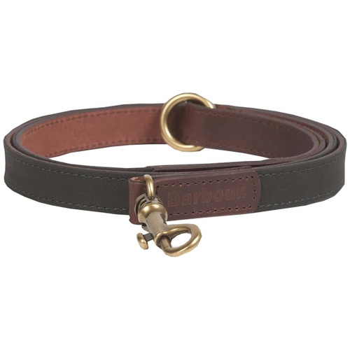 Olive Barbour Wax Leather Dog Lead