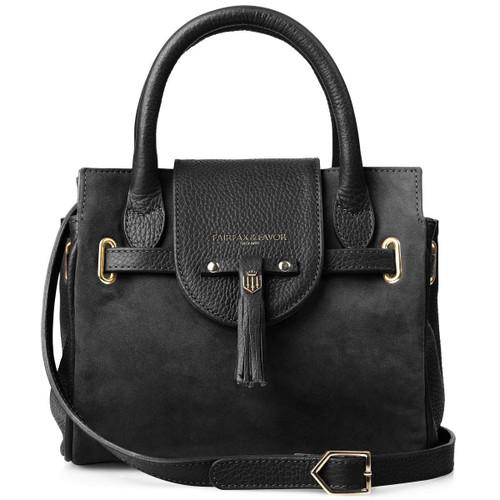 Black Fairfax & Favor Womens Mini Windsor Handbag
