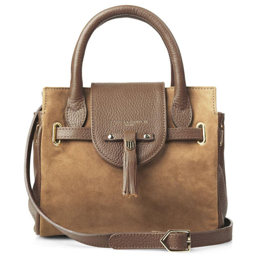 Tan Suede Fairfax & Favor Womens Mini Windsor Handbag