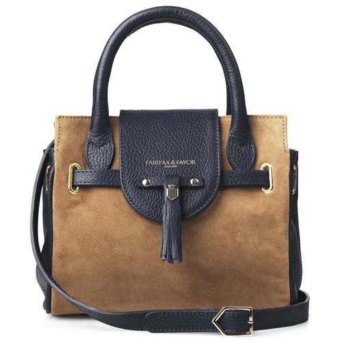 Tan/Navy Fairfax & Favor Womens Mini Windsor Handbag