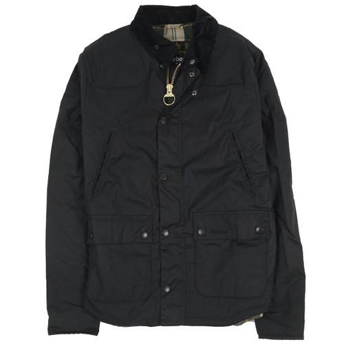 Navy Barbour Mens Reelin Wax Jacket