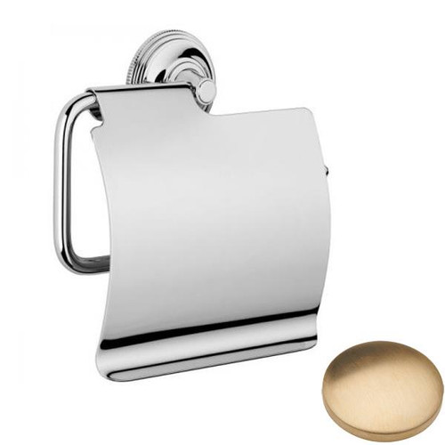 Brushed Gold Unlacquered Samuel Heath Style Moderne Wall Mounted Paper Holder N6637-C