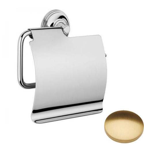 Brushed Gold Gloss Samuel Heath Style Moderne Wall Mounted Paper Holder N6637-C