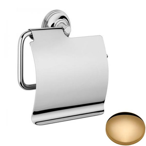 Non-Lacquered Brass Samuel Heath Style Moderne Wall Mounted Paper Holder N6637-C