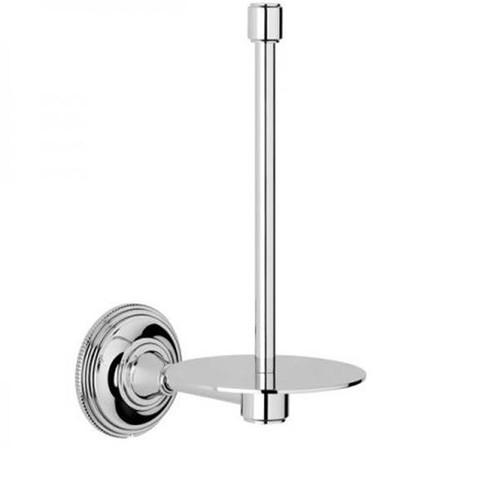 Chrome Plated Samuel Heath Style Moderne Spare Toilet Roll Holder N6631