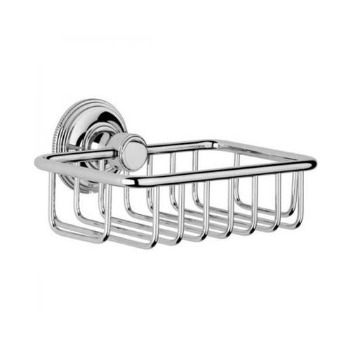 Chrome Plated Samuel Heath Style Moderne Soap Basket N6630