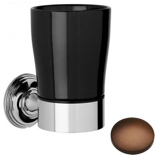 Country Bronze Samuel Heath Style Moderne Tumbler Holder Black Ceramic N6635B
