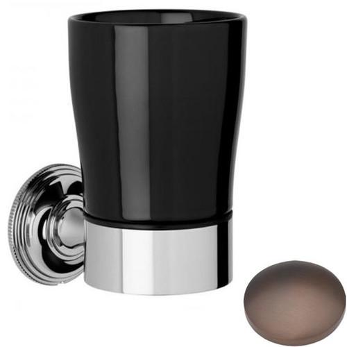 City Bronze Samuel Heath Style Moderne Tumbler Holder Black Ceramic N6635B