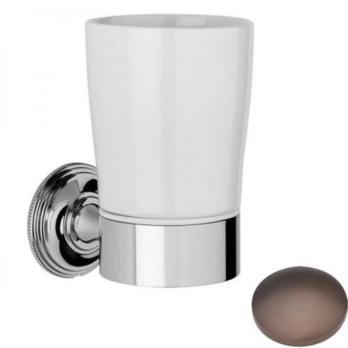 City Bronze Samuel Heath Style Moderne Tumbler Holder White Ceramic N6635W