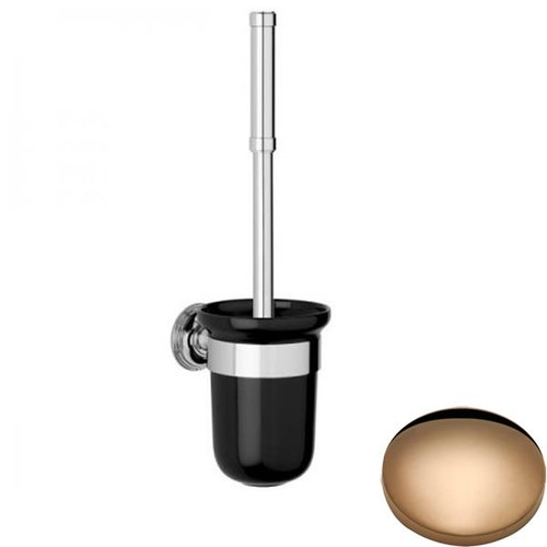 Antique Gold Samuel Heath Style Moderne Toilet Brush Black Ceramic N6649B