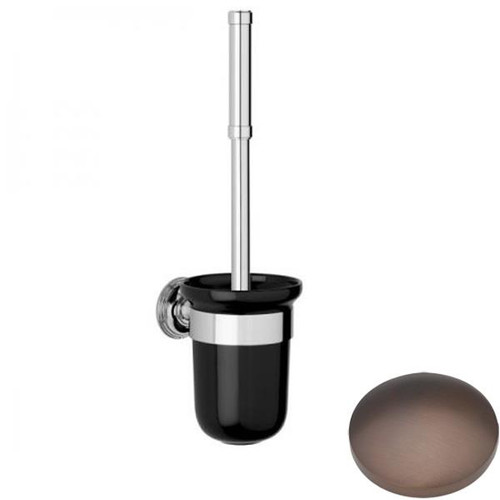 City Bronze Samuel Heath Style Moderne Toilet Brush Black Ceramic N6649B