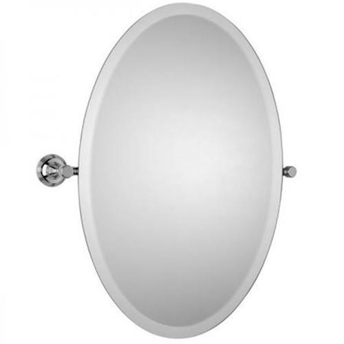 Chrome Plated Samuel Heath Style Moderne Oval Tilting Mirror L6746-XL