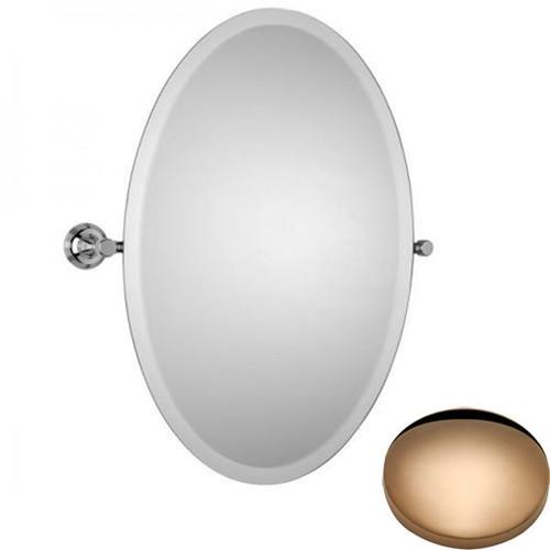 Antique Gold Samuel Heath Style Moderne Oval Tilting Mirror L6746-XL