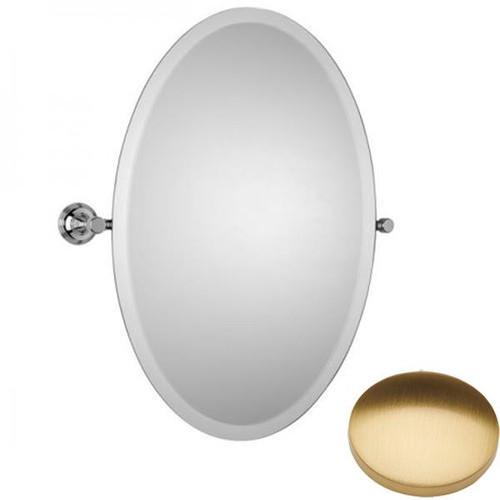 Brushed Gold Gloss Samuel Heath Style Moderne Oval Tilting Mirror L6746-XL