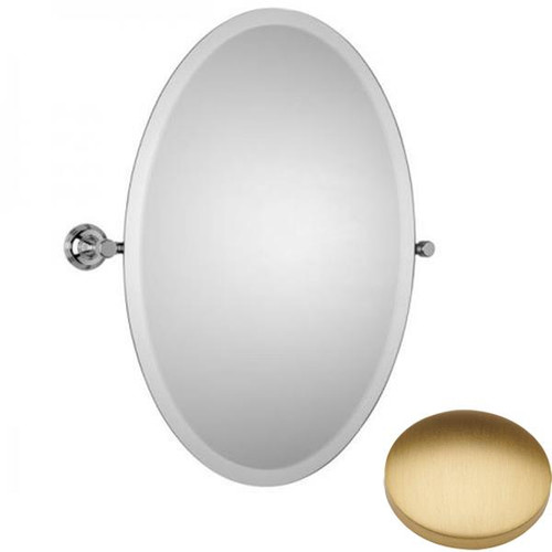 Brushed Gold Matt Samuel Heath Style Moderne Oval Tilting Mirror L6746-XL