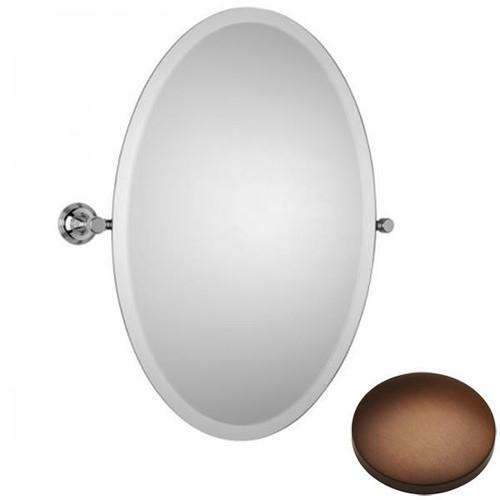 Country Bronze Samuel Heath Style Moderne Oval Tilting Mirror L6746-XL