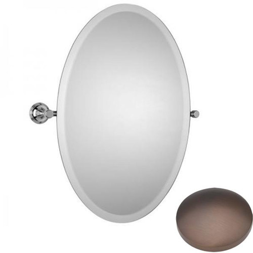 City Bronze Samuel Heath Style Moderne Oval Tilting Mirror L6746-XL
