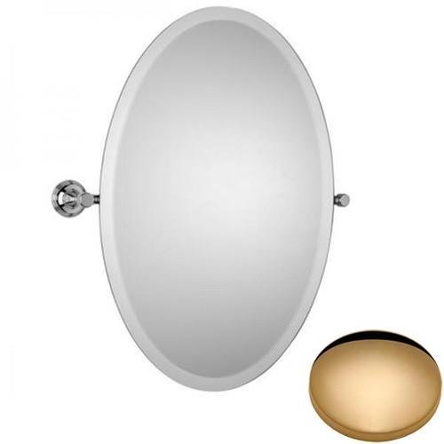 Non-Lacquered Brass Samuel Heath Style Moderne Oval Tilting Mirror L6746-XL