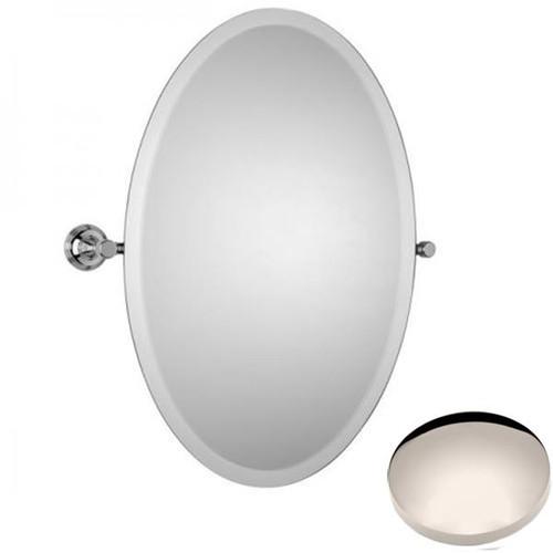 Polished Nickel Samuel Heath Style Moderne Oval Tilting Mirror L6746-XL