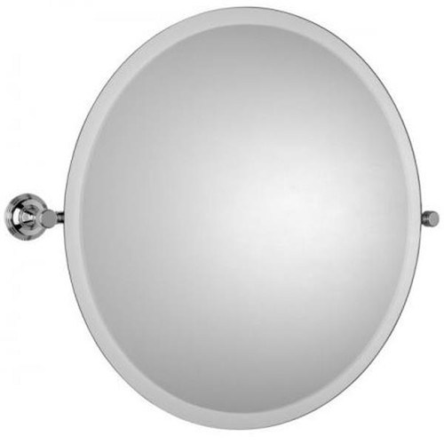 Chrome Plated Samuel Heath Style Moderne Round Tilting Mirror L6745