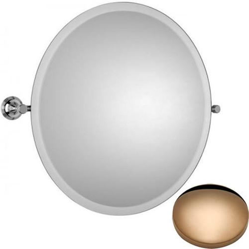 Antique Gold Samuel Heath Style Moderne Round Tilting Mirror L6745