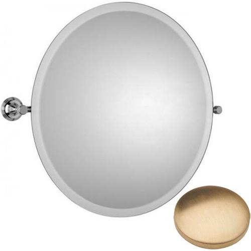 Brushed Gold Unlacquered Samuel Heath Style Moderne Round Tilting Mirror L6745